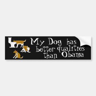 Rover, my dog, obama bumper sticker