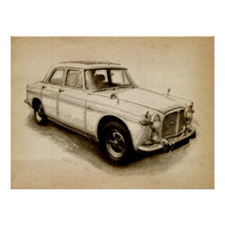 Rover P5 1968 Póster