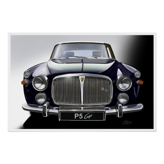 Rover P5 Coupe Poster