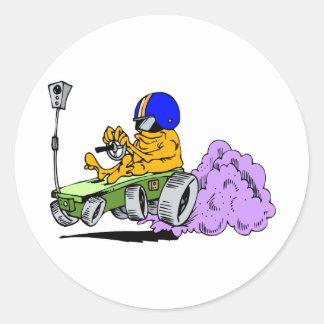 Rover Race Car Classic Round Sticker
