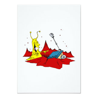"""rover stuck in crater funny 5"""" x 7"""" invitation card"""