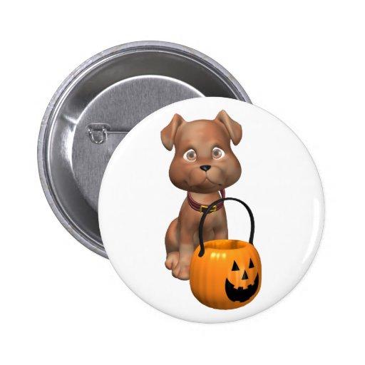 Rover va truco o tratando el Halloween Pins