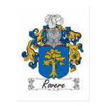 Rovere Family Crest Post Cards