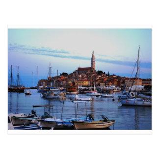 Rovinj Harbor, Croatia Postcard