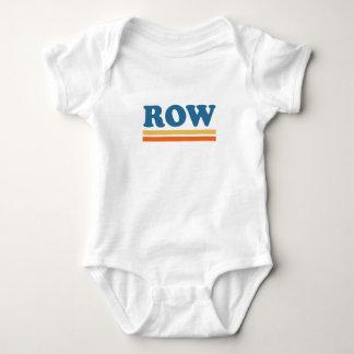 row baby bodysuit