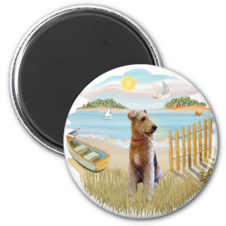 Row Boat - Airedale Magnet