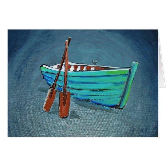Row boat card