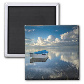Row Boat On The Water Magnet