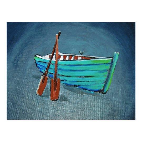 Row boat postcard