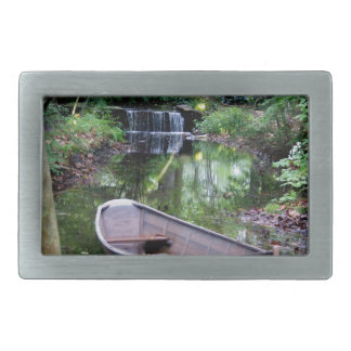 Row boat rectangular belt buckle