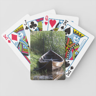 ROW BOAT RIVER NATURE GRASSES COUNTRY SCENERY BICYCLE PLAYING CARDS
