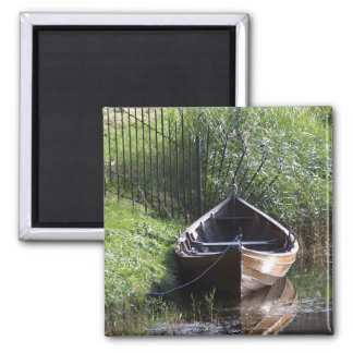 ROW BOAT RIVER NATURE GRASSES COUNTRY SCENERY MAGNET