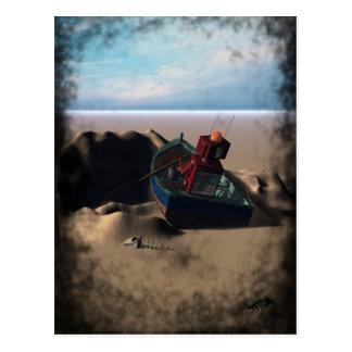 Row Boat Robot Postcard