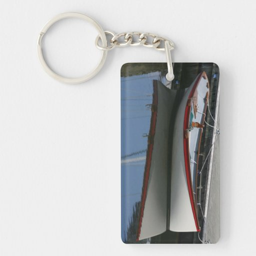 Row Boat Single-Sided Rectangular Acrylic Keychain