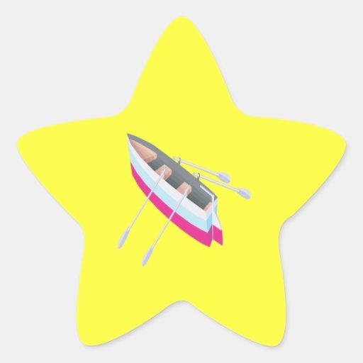 Row Boat Star Sticker