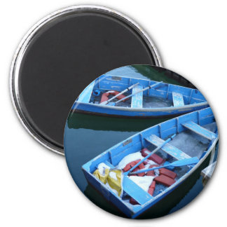 Row Boats 2 Inch Round Magnet