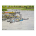 Row Boats - Menemsha Pond Postcard