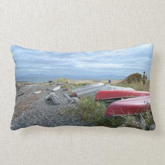 Row Boats on Hornby Island Lumbar Pillow