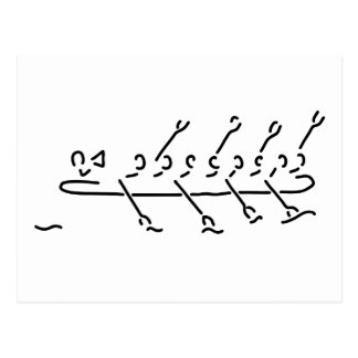 row figure eight boot rudder haven postcard