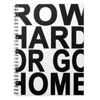 Row Hard or go Home T-Shirts.png Spiral Notebook