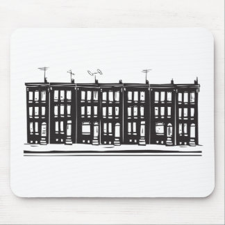 Row Homes Mouse Pad