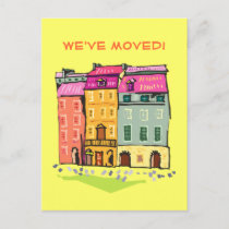 Row House We've Moved Change of Address New Home Announcement Postcard