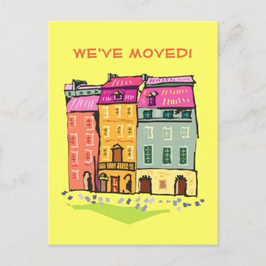 Row House We Ve Moved Change Of Address New Home Announcement
