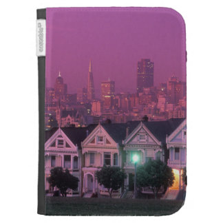 Row houses at sunset in San Francisco, Kindle 3 Case