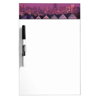 Row houses at sunset in San Francisco, Dry Erase Board