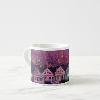 Row houses at sunset in San Francisco, Espresso Cup