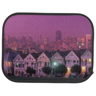 Row houses at sunset in San Francisco, Floor Mat