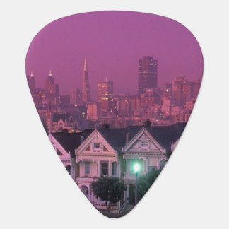 Row houses at sunset in San Francisco, Guitar Pick