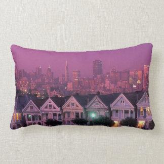 Row houses at sunset in San Francisco, Lumbar Pillow