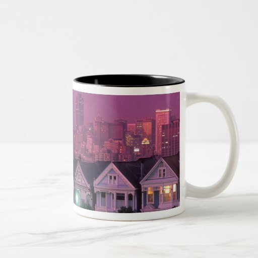 Row houses at sunset in San Francisco, Mugs