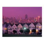 Row houses at sunset in San Francisco, Postcards