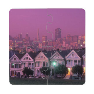 Row houses at sunset in San Francisco, Puzzle Coaster