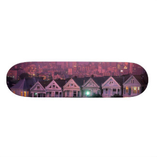 Row houses at sunset in San Francisco, Skate Deck