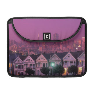 Row houses at sunset in San Francisco, Sleeve For MacBook Pro