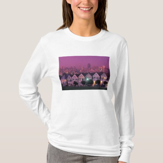 Row houses at sunset in San Francisco, T-Shirt
