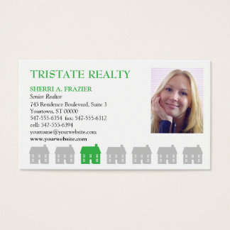 Row Houses Green Real Estate Business Card