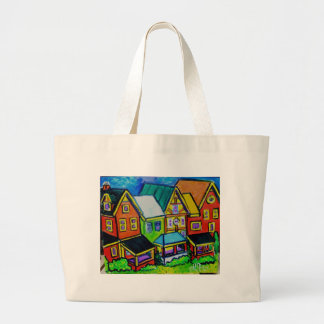 Row Houses Vermont Large Tote Bag