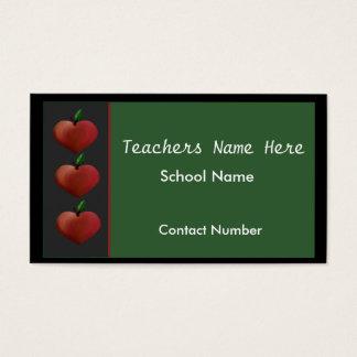 Row of Apples Teachers Business Card