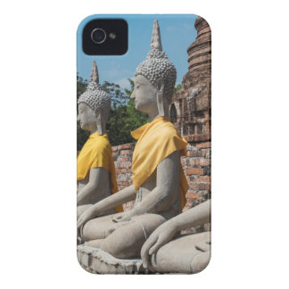 Row of Buddha statues, Ayutthaya, Thailand iPhone 4 Cover
