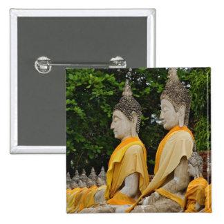 Row of Buddha statues, Wat Yai Chaya Mongkol Button