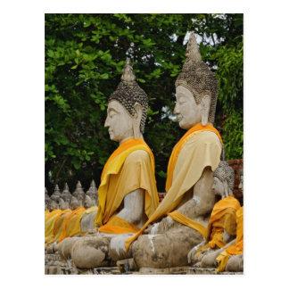 Row of Buddha statues, Wat Yai Chaya Mongkol Postcard