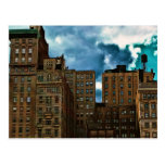 Row of Buildings in New York City Postcard