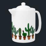 "Row of Cactus Teapot<br><div class=""desc"">For tea after a long day of gardening!</div>"