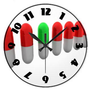 Row Of Capsules Clock