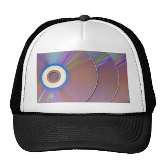 Row of CDs overlapping Trucker Hat
