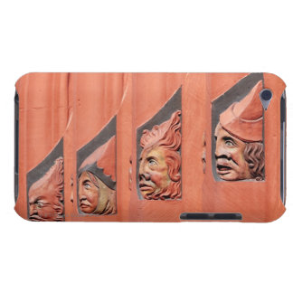 Row of ceramic heads along Basel's 16th Century iPod Touch Cover